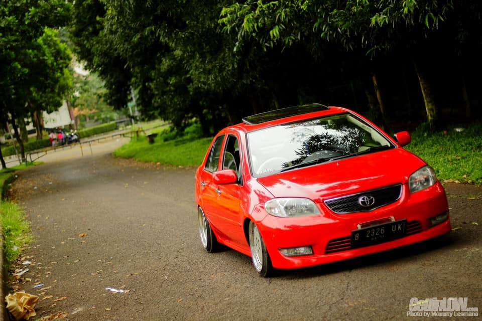 Lowered Red Toyota Vios G 2004 Gettinlow